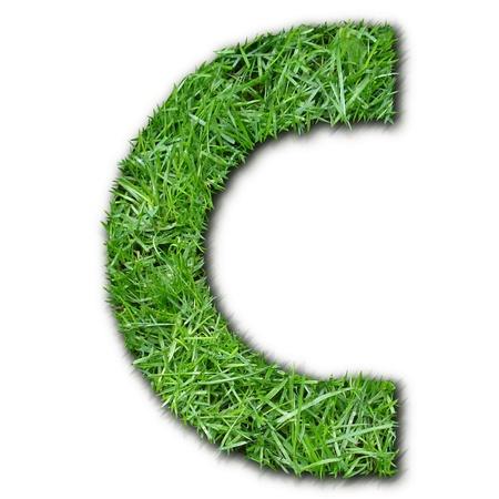 lettre: C grass