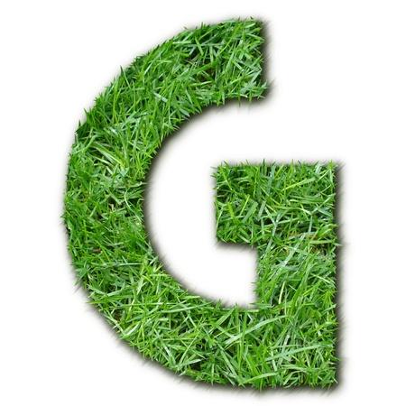 lettre: G grass