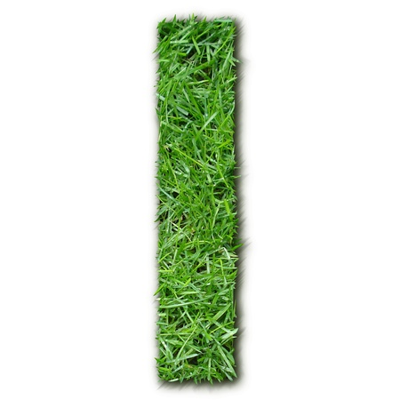 lettre: I grass Stock Photo