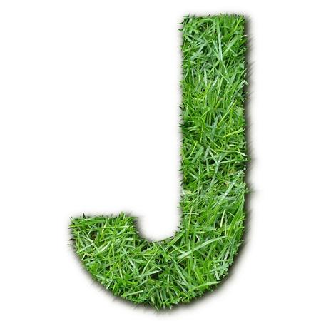 lettre: J grass Stock Photo