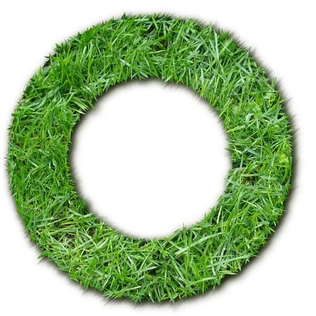 lettre: O herbe Stock Photo
