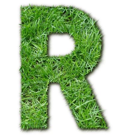 lettre: R herbe Stock Photo
