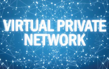 Digital virtual private network text on blue network background 版權商用圖片