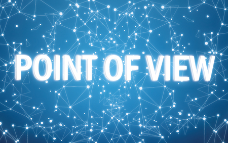 Point of view interface on blue network background Stok Fotoğraf