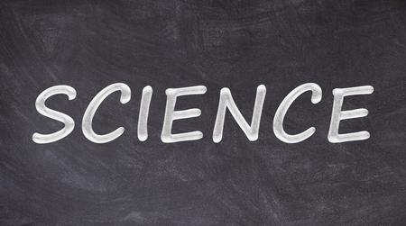 Science written on blackboard