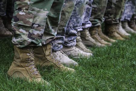 Legs of American soldiers
