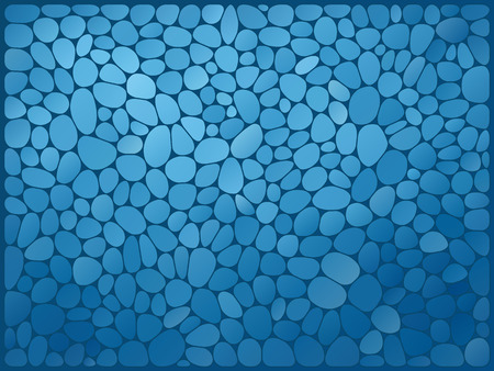 mosaic: vector illustration - blue abstract mosaic stone background
