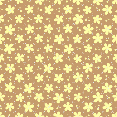 spotty: vector illustration - floral and dotted colorful abstract seamless background