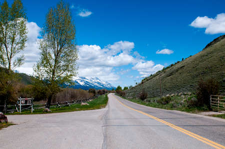 Country Road in Jackson Hole, Wyoming