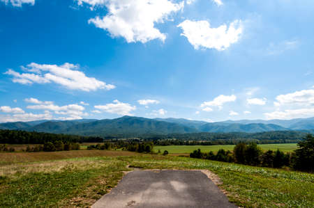 Road ending in the fields, Smokey Mountain National Park