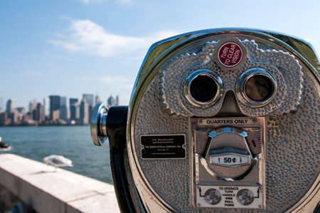 Tower Viewer with Manhattan in the background.