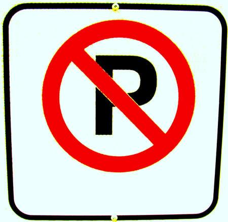 No Parking Stok Fotoğraf