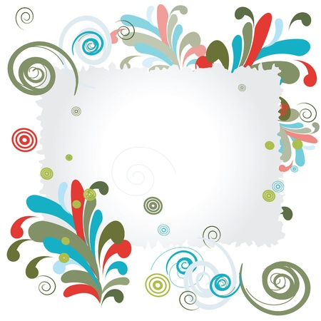 White blue note frame ornated with decorative patterns Stock Vector - 21200630