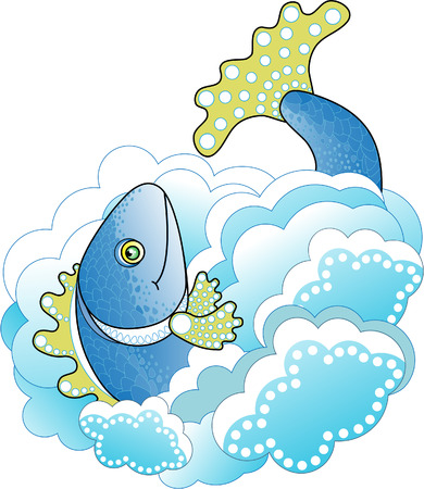 Big Blue Fish in the Sea Stock Vector - 8463489