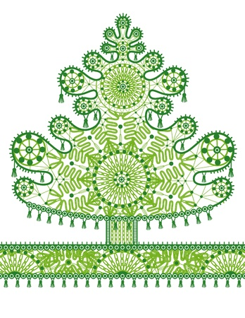 Abstract lace christmas tree
