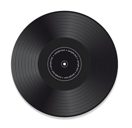 白い背景で隔離のビニール レコード  イラスト・ベクター素材