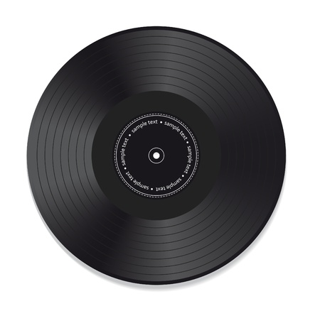 record: Vinyl record isolated on white background Illustration