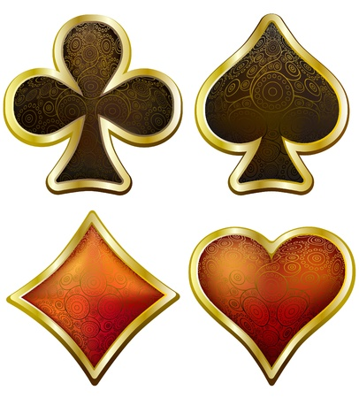 Card suits in victorian style