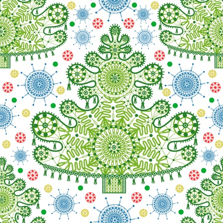 Seamless lace christmas tree pattern