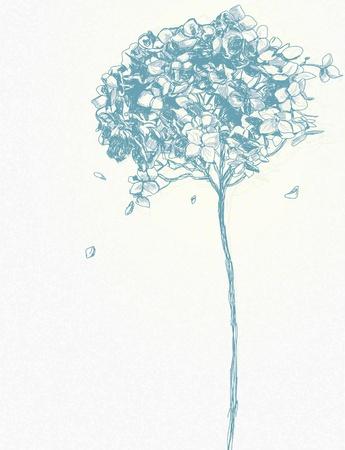 花のベクトルの背景  イラスト・ベクター素材
