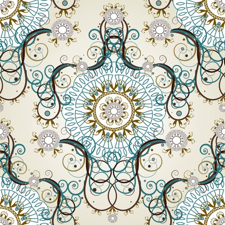 럭셔리 꽃 빈티지 벽지 스톡 콘텐츠 - 11655708