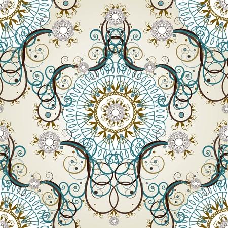 Luxury floral vintage wallpaper