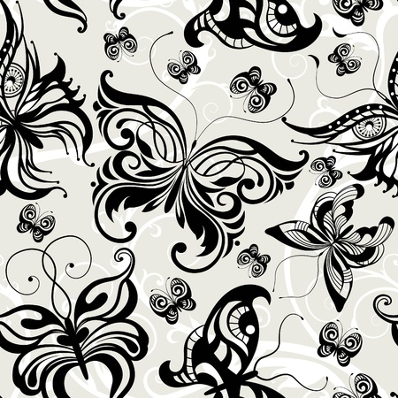 wrapper: Seamless pattern with butterflies