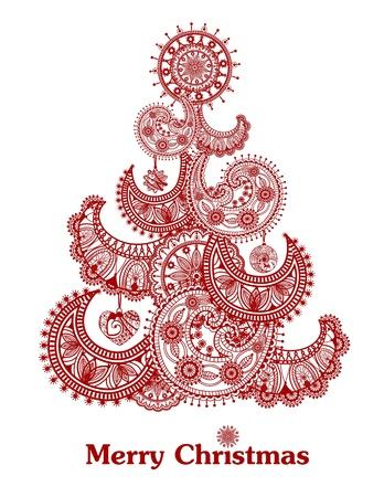 抽象的な赤いクリスマス ツリー