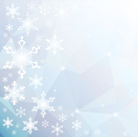 Christmas background with snowflakes. Vector - EPS 10 Illustration