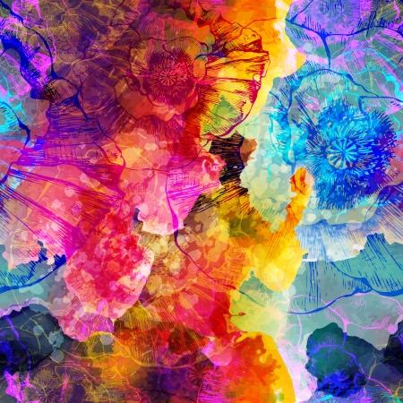 抽象的なシームレスなパターン。ベクトル イラスト、EPS 10