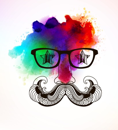 Hipster man. ART Vector illustration, EPS 10