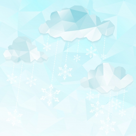 Vector illustration abstract winter clouds Background.