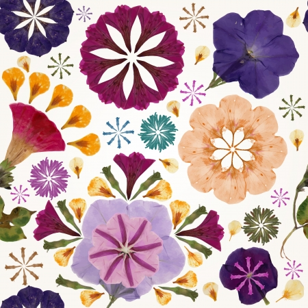 Seamless pattern with flowers. Vector illustration,