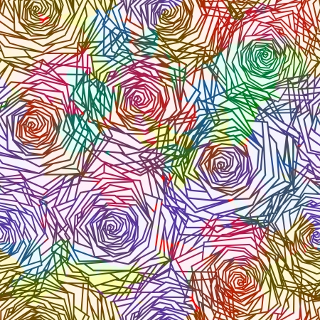 Seamless Roses Pattern. Vector illustration Illustration