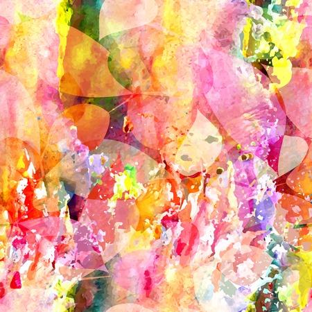 抽象的な花柄シームレス