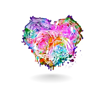 Abstract beautiful heart illustration Vector