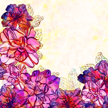 Floral background with flowers illustration Vector