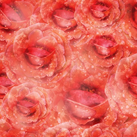 Seamless Roses Pattern.    Vector