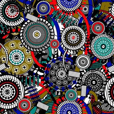 Abstract Machine patroon. Naadloze mechanisme textuur. illustratie met tandwielen en mechanische onderdelen