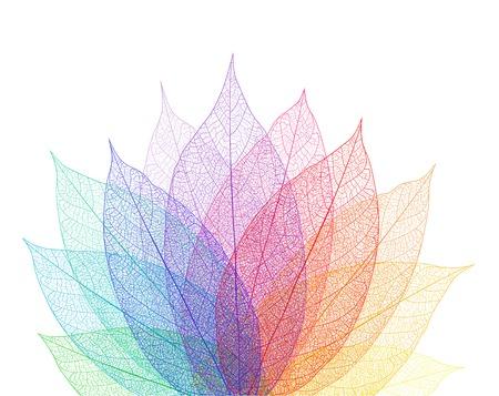 葉の抽象的な背景。ベクトル マクロ アート イラスト。