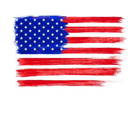 us flag grunge: American Flag vector. Independence Day, 4 th July. Vectorl illustration. Illustration