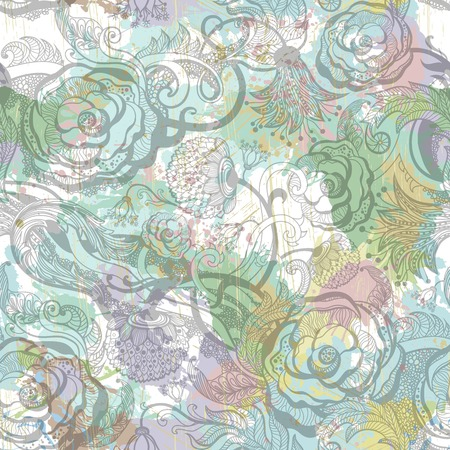 eps 10: Vintage ornamental seamless pattern with flowers. EPS 10 Illustration