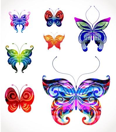 eps10: Set of vector butterflies. EPS10