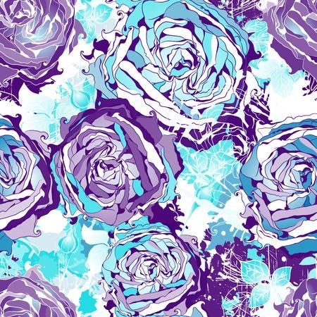 シームレスな花の壁紙パターン。  イラスト・ベクター素材