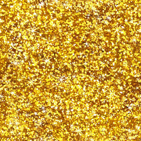 shiny gold: Glitter shiny gold seamless pattern. Vector texture,  Illustration