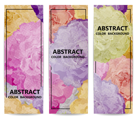 spring flower: Set of vertical floral banners or backgrounds with flowers. Abstract vector illustration, EPS 10