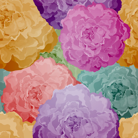 plasticine: Seamless pattern with abstract bright flowers. Vector