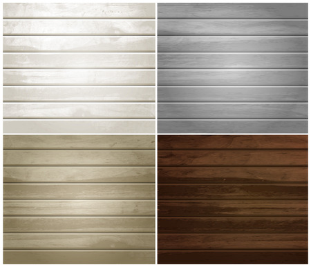 wood textures: Vector wood textures, natural wooden plank, set of colorful backgrounds.