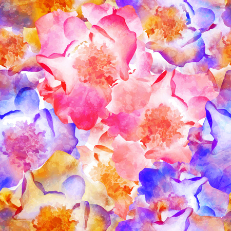 rose petals: Seamless Roses Pattern
