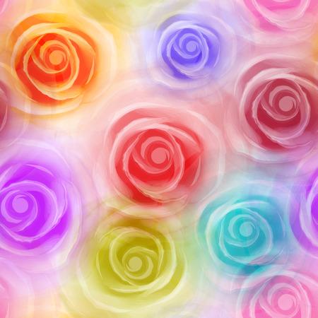 シームレスなバラ パターン  イラスト・ベクター素材